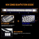 "32 "" Auxbeam Triple Row Straight LED Light Bar 144W"
