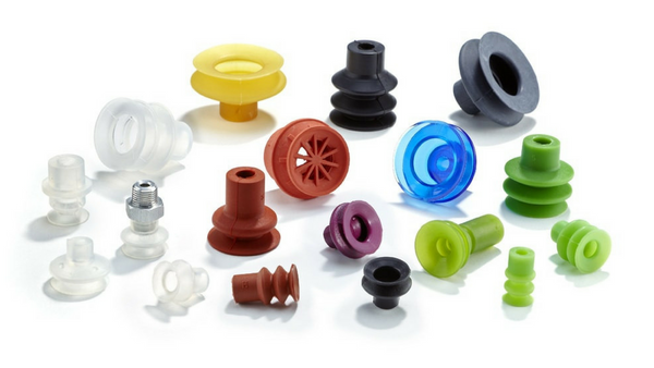 suction cups, vacuum suction cups, bellows suction cups, multi-bellows suction cups, flat suction cups, suckers