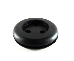 3 Hole Grommet - 29mm x 12mmh-Cable Grommets-3 Hole Grommet | Rubber Shop