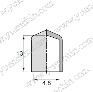 PVC Cap - 4.8mm x 13mmH-Rubber Caps-PVC Cap | Rubber Shop