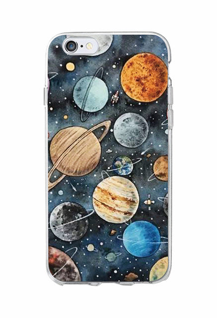 Outer Space Collection | Soft Clear Phone Case For Iphone/samsung - 6 / For Samsung S7 Edge