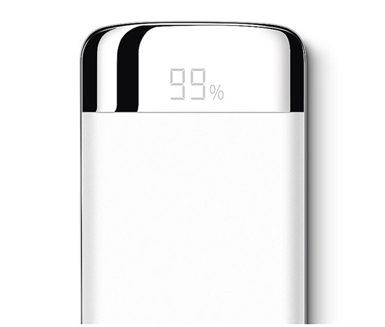 Top Quality 20000Mah Universal Power Bank 2 Usb Li-Polymer Mobile Portable Battery Charger - White