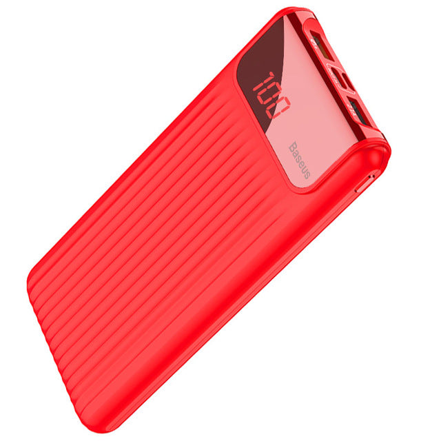 Powerbank Dual Usb Lcd External Battery - China / Red