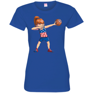 7752a4210 Favorable Dabbing Basketball T Shirt Girl Dab USA Flag T-shirt Gifts