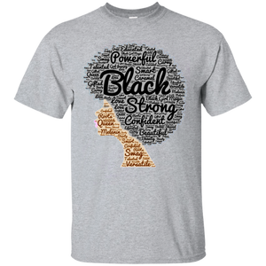 91b971384 Awesome Afro Word Art T-Shirt for Black History Month