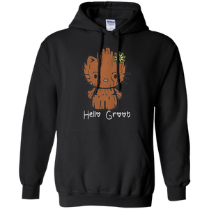 931a619c4 Baby Groot - Hello Groot not Hello Kitty Pullover Hoodie