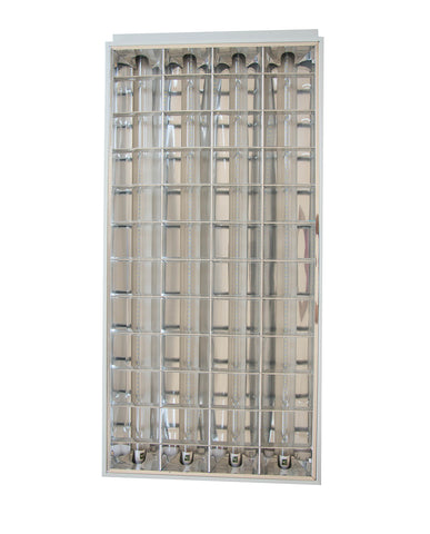 PANEL LED CUADRICULADO KIT 60x120 72W C/4 TUBOS T8 300V