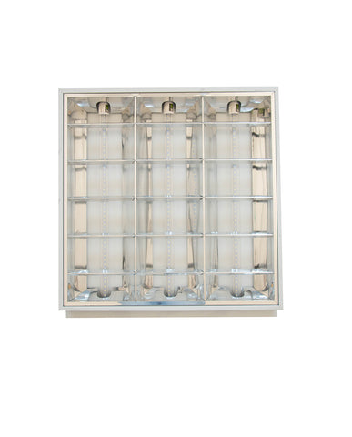 PANEL LED CUADRICULADO KIT 60x60 33W C/3 TUBOS T8 300V