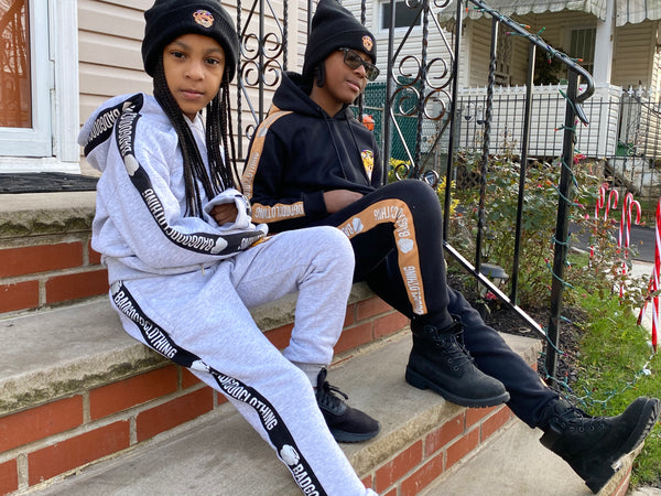 Kids Grey Sweatsuits