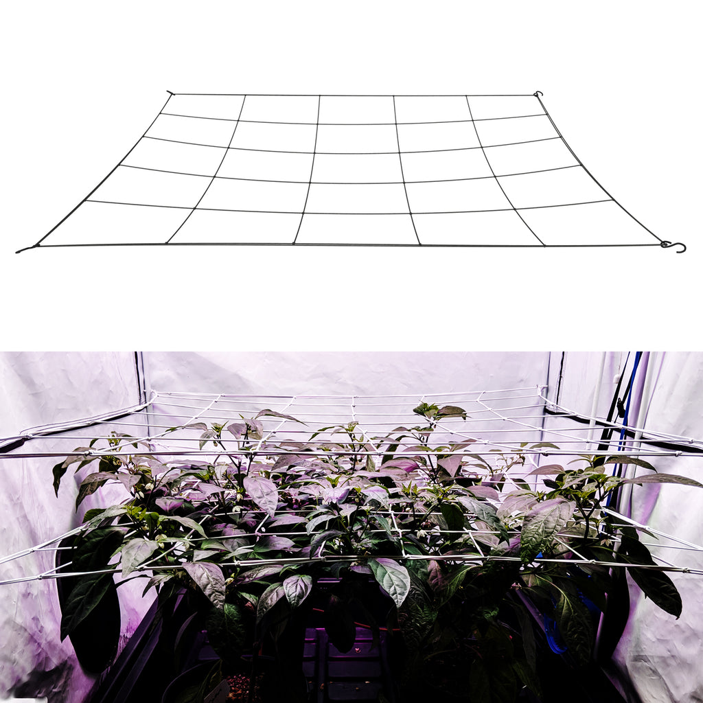 "single 6"" mesh flexible grow tent scrog net. Fits sizes 5x5 and under."