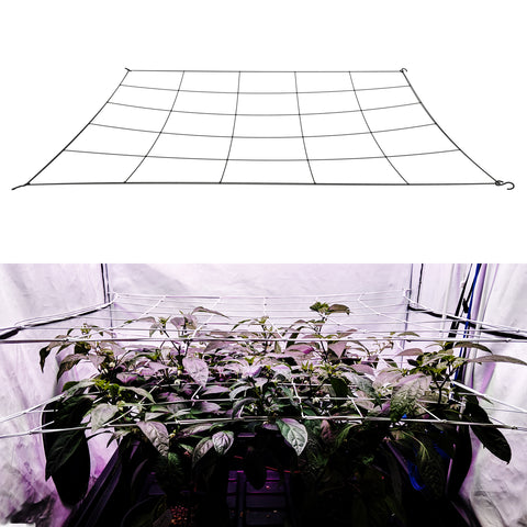 "Image of single 6"" mesh flexible grow tent scrog net. Fits sizes 5x5 and under."