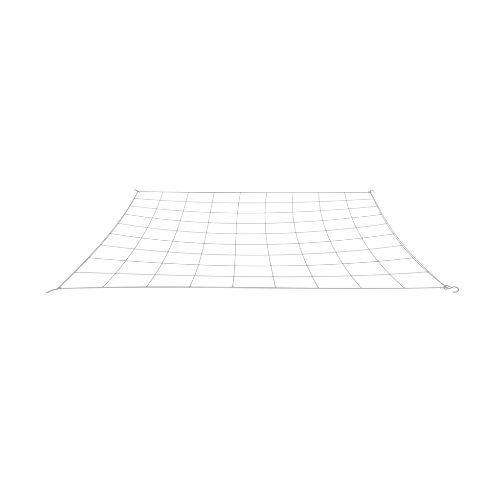 "Single 4"" flexible trellis net for grow tents"
