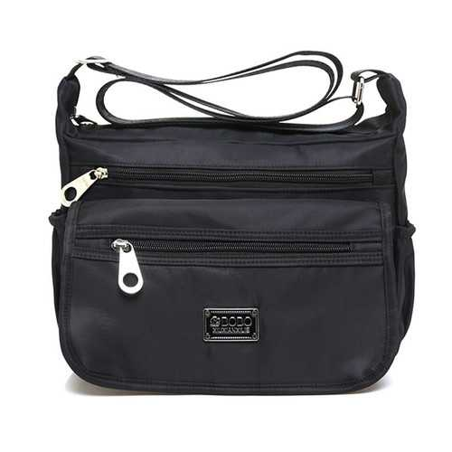 Multilayer Zipper-pockets Light Weight Shoulder Bag Waterproof Crossbody Bags Messenger Bags