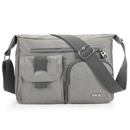 Light Weight Nylon Waterproof Messenger Bags Multi Zipper-pockets Shoulderbags Crossbody Bags