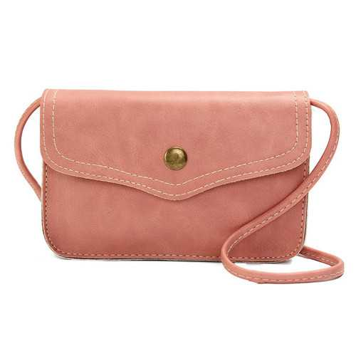 Women Hasp Mini Shoulder Bags PU Leather Phone Bags Case Crossbody Bags