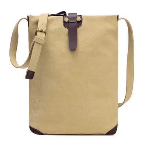 Women Men Retro Canvas Shoulder Bags Belt Crossbody Bags Simple Messenger Bags