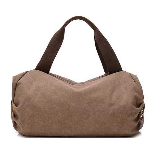 Front Pockets Retro Canvas Tote Handbags Casual Shoulder Bags Capacity Shopping Crossbody Bags