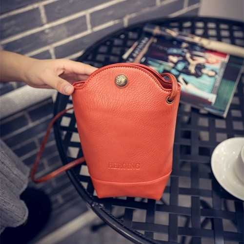Women Irregular Little Phone Bag Casual PU Crossbody Bag