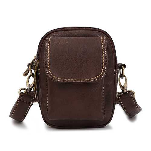 Women Men Retro Front Zipper Pocket Shoulder Bags Vintage Crossbody Bags Waist Bags 5.5'' Phone Bags