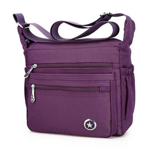 Women Front Pockets Shoulder Bags Light Crossbody Bags