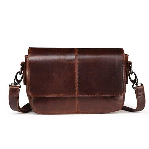 Women Genuine Leather Shoulder Bags Retro Flap Crossbody Bags Vintage Bags