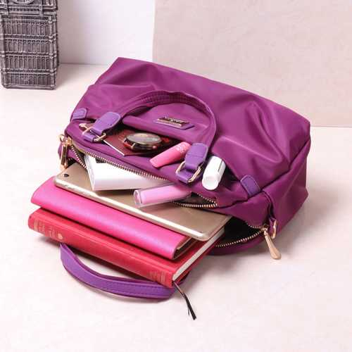 Women Nylon Light Water Resistance Tote Handbag