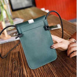 Women Quality PU Leather Retro Floral Mini Phone Bag Crossbody Bag