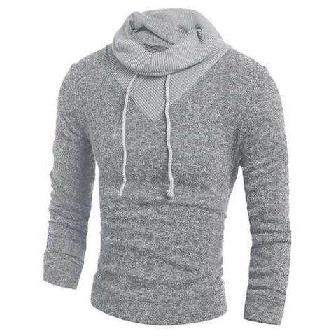 Mens Hoodie Color Stitching Pullover Winter Sportswear Long Sleeve Sweater Casual Shirt