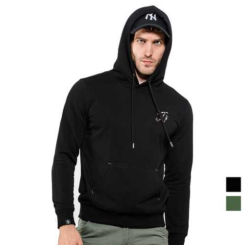 Camouflage Hat Stylish Hoodies Cotton Sport Hooded Tops