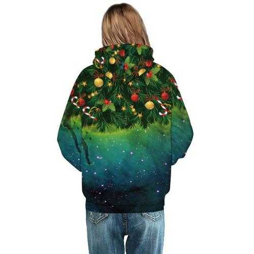 Christmas Tree Digital Printing Baseball Uniform Hoodies