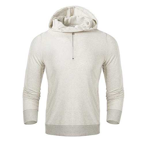 Fashion Mens Half-cardigan Cotton Hoodies