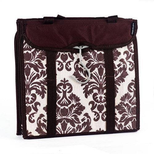 Travelon Hanging Handbag Organizer - Set of 2 (Chocolate Damask)