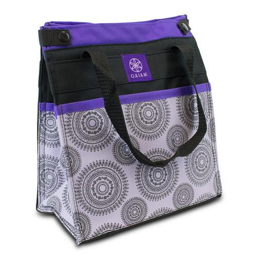 Gaiam Insulated Lunch Bag Tote Leak-Resistant Purple Marrakesh