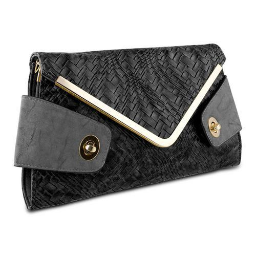 Mad Style Owl Envelope Clutch, Black