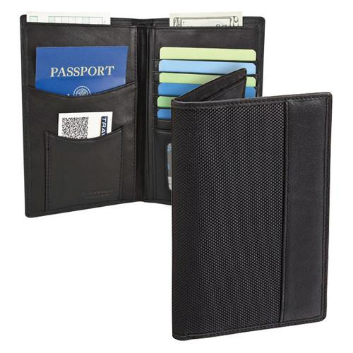 Travelon SafeID Classic Executive Organizer Passport & ID Travel Holder, Black