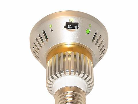 Hidden Security Light Bulb Motion Detect MicroSD Camera w/ Nightvision