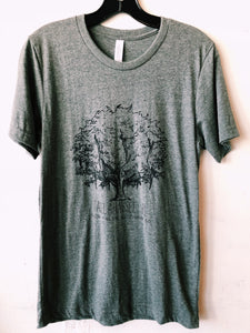 The Tallahassee Tree Tee- Heather Grey