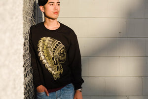 The Headdress Sweatshirt- Black