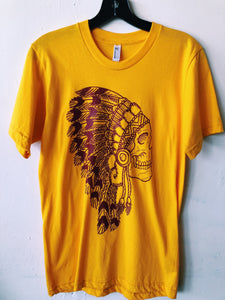The Headdress Tee- Golden Yellow