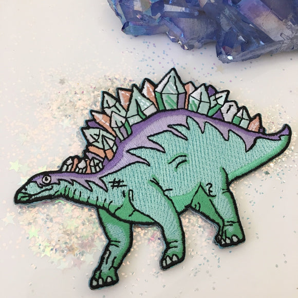 Crystal Stegosaurus Patch