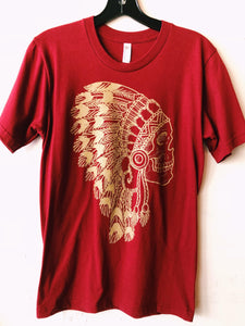 The Headdress Tee- Garnet