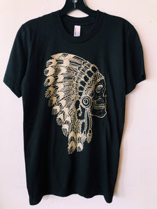 The Headdress Tee- Black