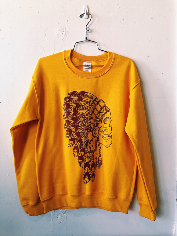 The Headdress Sweatshirt- Golden Yellow