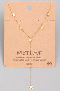 Stars Lariat Necklace
