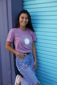 ✨New✨ Tallahassee Sun Tee- Heathered Mauve