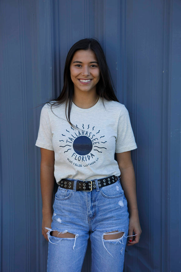 ✨New✨ Tallahassee Sun Tee- Heather Natural