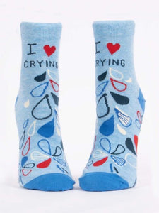Women's Ankle- I Heart Crying