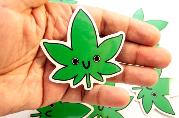 Sticker- Happy Marijuana