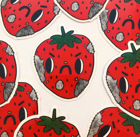 Sticker- Angry Strawberry