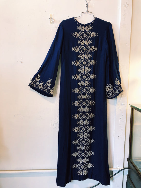 Vintage Embroidered Maxi Dress